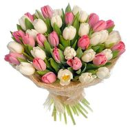 """Lovely bouquet of tulips"" in the online flower shop roza.zp.ua"