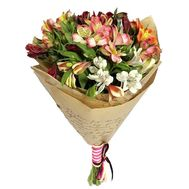 Alstroemeria in kraft paper - flowers and bouquets on roza.zp.ua