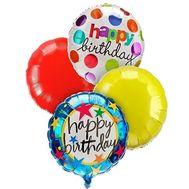 5 фольгированных шаров с Днем Рождения - цветы и букеты на roza.zp.ua