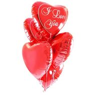 5 foil balloons heart - flowers and bouquets on roza.zp.ua