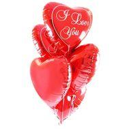 5 фольгованих куль серця - цветы и букеты на roza.zp.ua