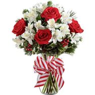 Bouquet gift for Christmas - flowers and bouquets on roza.zp.ua