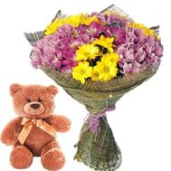 """Flowers and toy"" in the online flower shop roza.zp.ua"