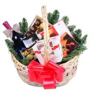 Basket of sweets for the New Year - flowers and bouquets on roza.zp.ua