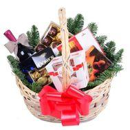 Корзина сладостей на Новый год - цветы и букеты на roza.zp.ua