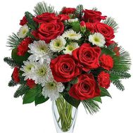 Beautiful bouquet for the New Year - flowers and bouquets on roza.zp.ua