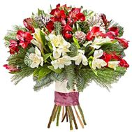 New Year's bouquet of alstromeria - flowers and bouquets on roza.zp.ua