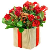 New Year's bouquet in a box - flowers and bouquets on roza.zp.ua