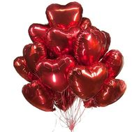 Cloud of foil balloons - flowers and bouquets on roza.zp.ua