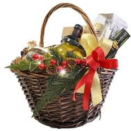 Christmas grocery basket - flowers and bouquets on roza.zp.ua