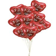 Balloons in the shape of a heart for the beloved - flowers and bouquets on roza.zp.ua
