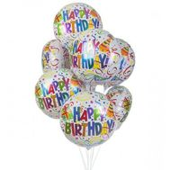 Birthday balloons from foil - flowers and bouquets on roza.zp.ua