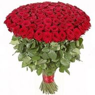 A huge bouquet of 101 red roses - flowers and bouquets on roza.zp.ua