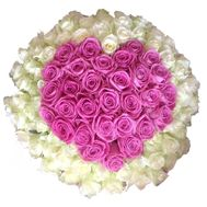 Bouquet of hearts from 101 roses - flowers and bouquets on roza.zp.ua