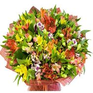 Bouquet of 35 alstromeries - flowers and bouquets on roza.zp.ua