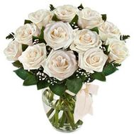 """""""Bouquet of flowers from 13 white roses"""" in the online flower shop roza.zp.ua"""