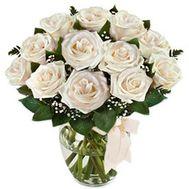 """""""Букет квітів з 13 білих троянд"""" в интернет-магазине цветов roza.zp.ua"""