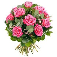 Bouquet of 11 pink roses - flowers and bouquets on roza.zp.ua