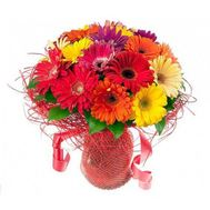 Bouquet of 19 gerberas - flowers and bouquets on roza.zp.ua