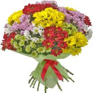"""Bouquet of 25 chrysanthemums"" in the online flower shop roza.zp.ua"