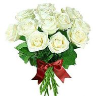"""""""Bouquet of 15 white roses"""" in the online flower shop roza.zp.ua"""