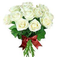 """""""Букет з 15 білих троянд"""" в интернет-магазине цветов roza.zp.ua"""