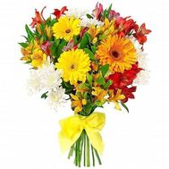 Bouquet of gerberas, chrysanthemums and alstroemerias - flowers and bouquets on roza.zp.ua