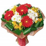 """Bouquet of flowers from gerberas and alstroemerias"" in the online flower shop roza.zp.ua"
