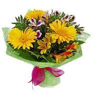"""Bouquet of 3 gerberas and 4 alstroemerias"" in the online flower shop roza.zp.ua"