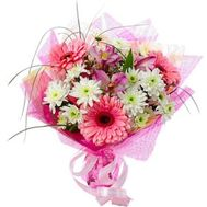 """Bouquet of gerberas, chrysanthemums and alstroemerias"" in the online flower shop roza.zp.ua"