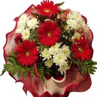 """""""Bouquet of flowers from gerberas and chrysanthemums"""" in the online flower shop roza.zp.ua"""