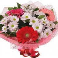 Bouquet of flowers from Chrysanthemum and gerberas - flowers and bouquets on roza.zp.ua