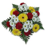 """""""Bouquet of flowers from chrysanthemums. carnations and gerberas"""" in the online flower shop roza.zp.ua"""