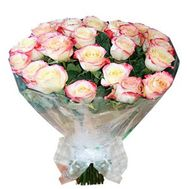 Bouquet of 35 imported roses - flowers and bouquets on roza.zp.ua