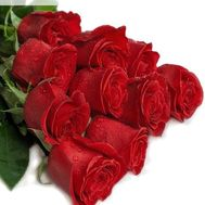Bouquet of 11 meter red roses - flowers and bouquets on roza.zp.ua