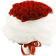 """Bouquet of 25 red roses flowers"" in the online flower shop roza.zp.ua"