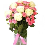Bouquet of 15 roses - flowers and bouquets on roza.zp.ua