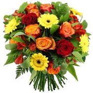 Bouquet of roses, alstromeries and gerberas - flowers and bouquets on roza.zp.ua