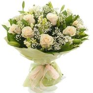 """""""Bouquet of flowers from roses and alstroemerias"""" in the online flower shop roza.zp.ua"""
