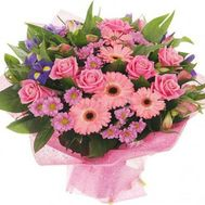 """Bouquet of roses, gerberas, alstromeries and chrysanthemums"" in the online flower shop roza.zp.ua"