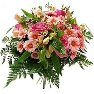 """Bouquet of roses, alstromeries and chrysanthemums"" in the online flower shop roza.zp.ua"