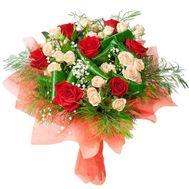 """Букет з різнокольорових троянд"" в интернет-магазине цветов roza.zp.ua"