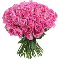 """Bouquet of 45 pink roses"" in the online flower shop roza.zp.ua"