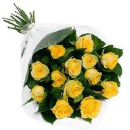"""""""Bouquet of 13 yellow roses"""" in the online flower shop roza.zp.ua"""
