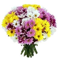 """Bouquet of 21 chrysanthemums"" in the online flower shop roza.zp.ua"