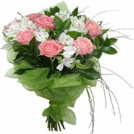 Bouquet of flowers roses and alstroemerias - flowers and bouquets on roza.zp.ua