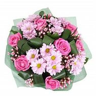 """Bouquet of flowers roses and chrysanthemums"" in the online flower shop roza.zp.ua"