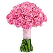 """Bouquet of 25 pink roses"" in the online flower shop roza.zp.ua"
