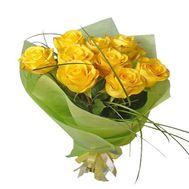 """Bouquet of 9 yellow roses"" in the online flower shop roza.zp.ua"