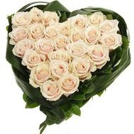 """Heart-shaped composition of roses"" in the online flower shop roza.zp.ua"